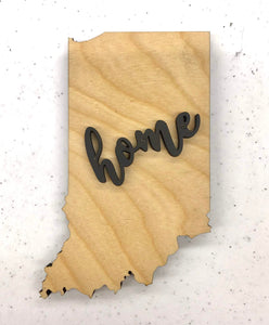 "Indiana Wood Sign - Engraving Option - 12.75"" x 20"""