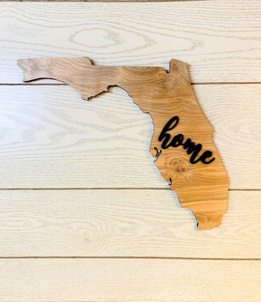 "Florida Wood Sign - Engraving Option - 17.5"" x 15"""