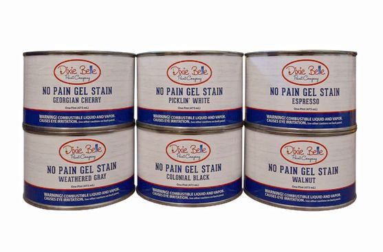 Dixie Belle No Pain Gel Stain | Oil Based | Available in Espresso - Walnut - Cherry - Pickling White - Black - Gray