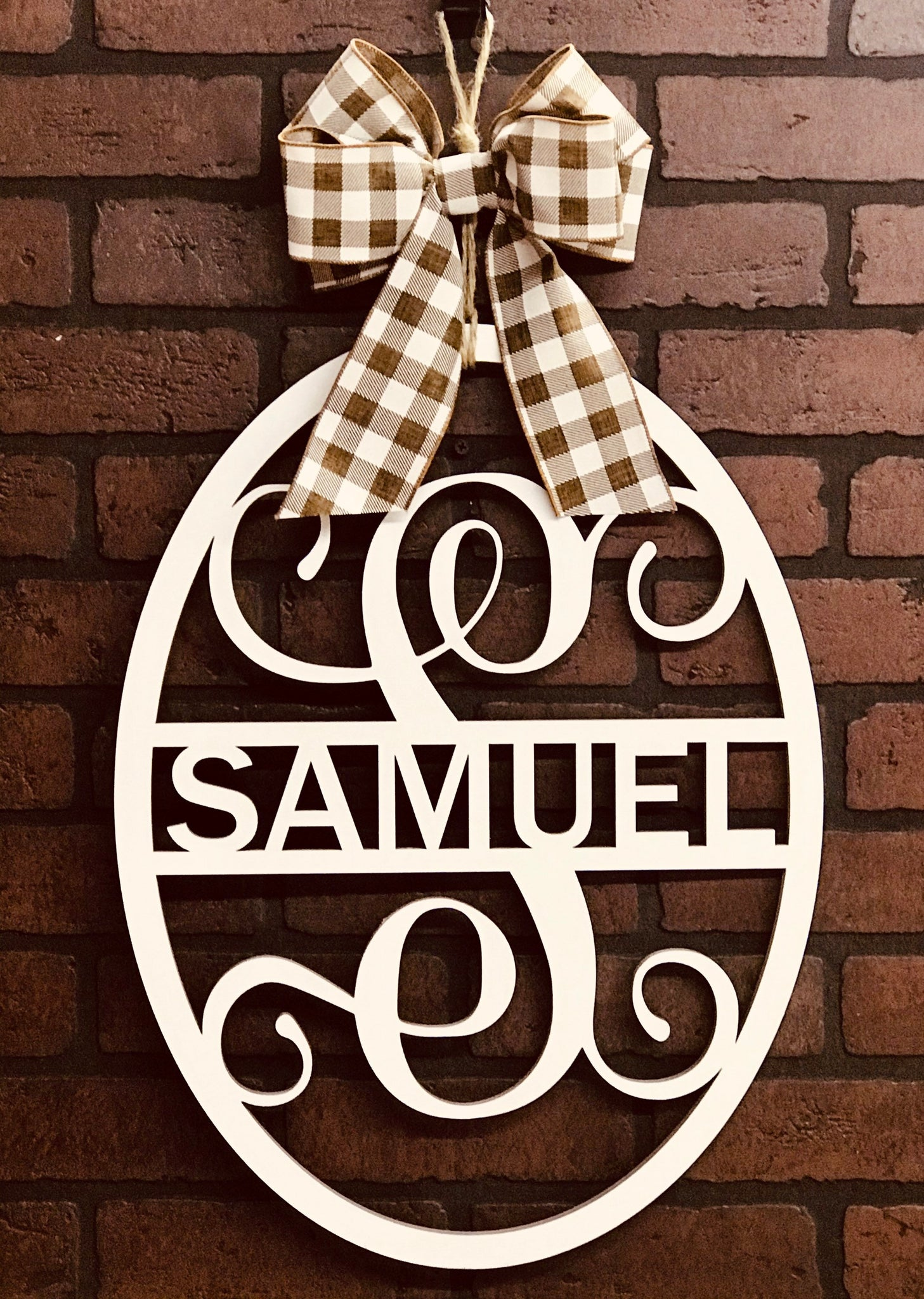 Last Name Door Hanger | Family Name Sign | Great Personalized Gift | Home Decor Wall Sign | White Wood Finish