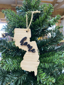 New Jersey State Christmas Ornament - Great Ornament Exchange Idea - Keepsake Gift - Christmas Decoration