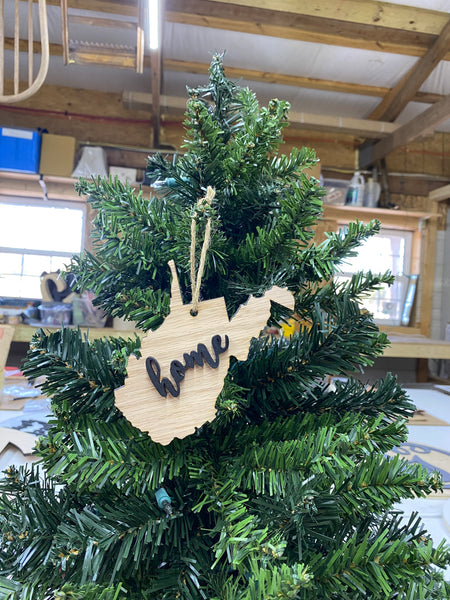 West Virginia State Christmas Ornament - Great Ornament Exchange Idea - Keepsake Gift - Christmas Decoration