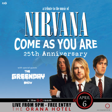 Nirvana Tribute Show - Saturday 6th April