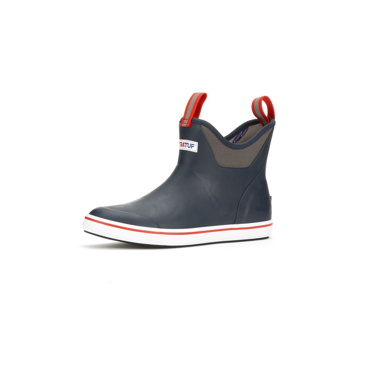 Xtratuf Deck Boot, Ankle Navy / Red