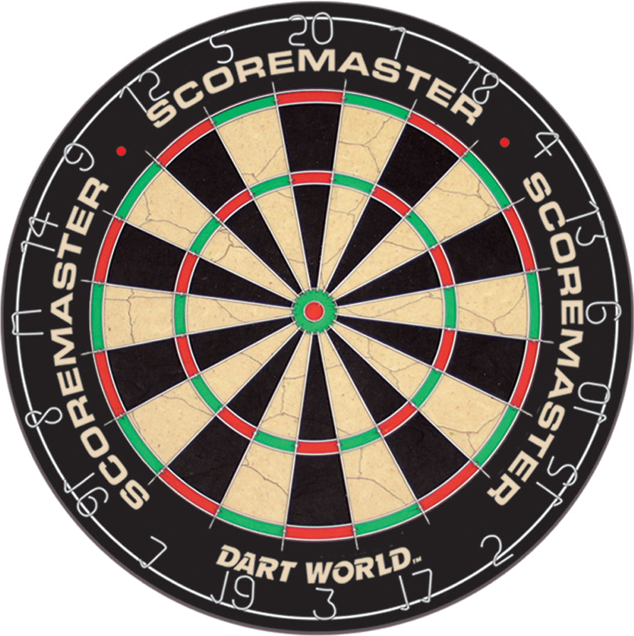 SCOREMASTER Genuine Bristle Dartboard