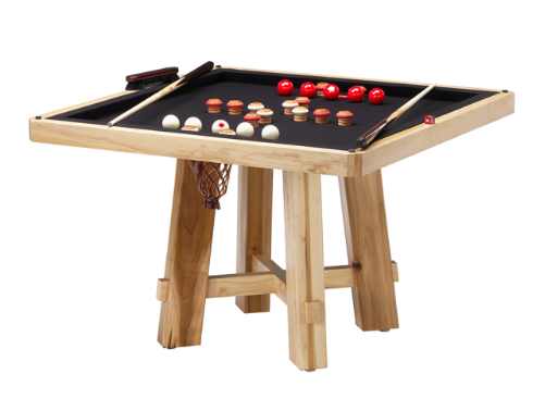 Darafeev El Dorado Poker Dining Table w/ Bumper Pool
