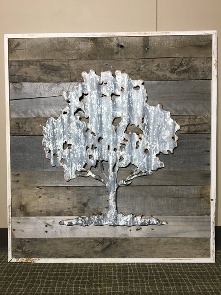 Aged Wood Wall Art - Tree