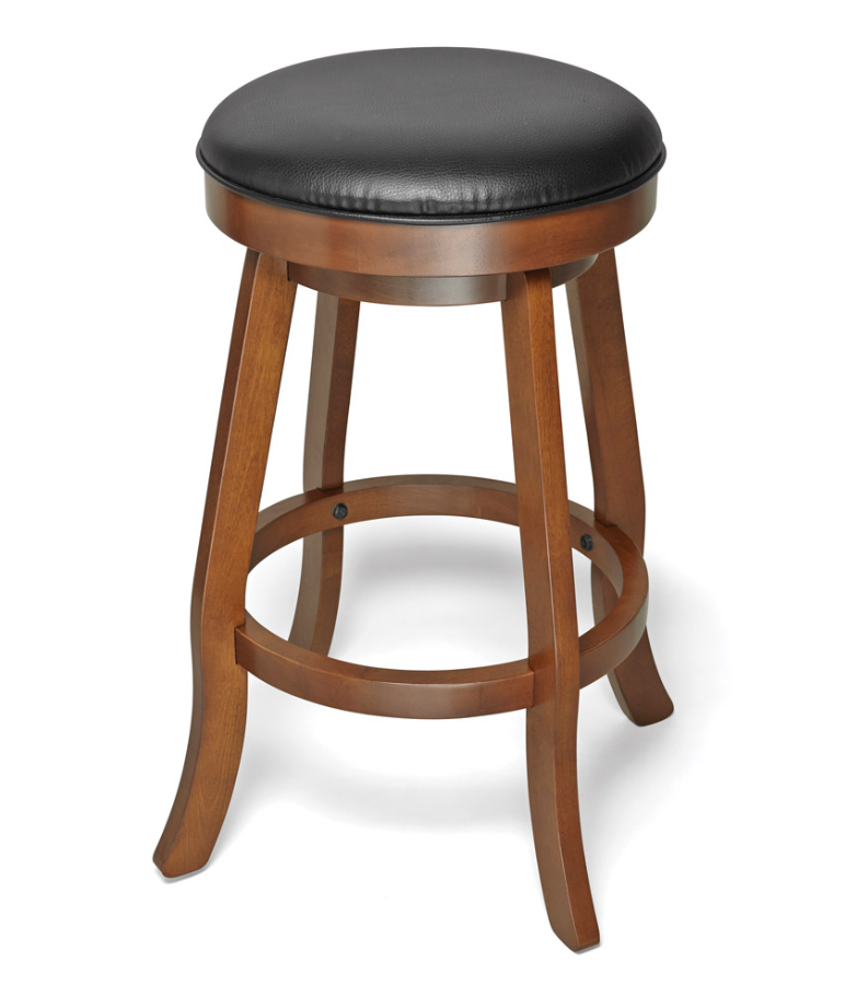 Brunswick Traditional Backless Bar Stool - Chestnut