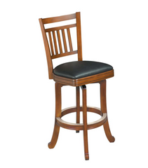 Brunswick Heritage Wood Slat Back Bar Stool