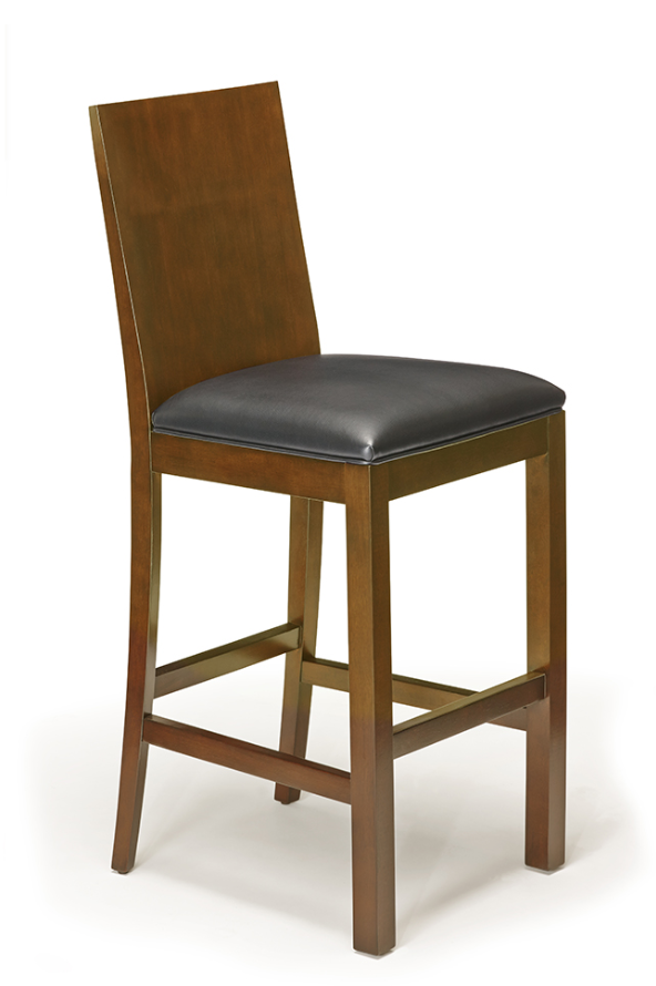 Brunswick Heritage Wood Back Bar Stool - Chestnut