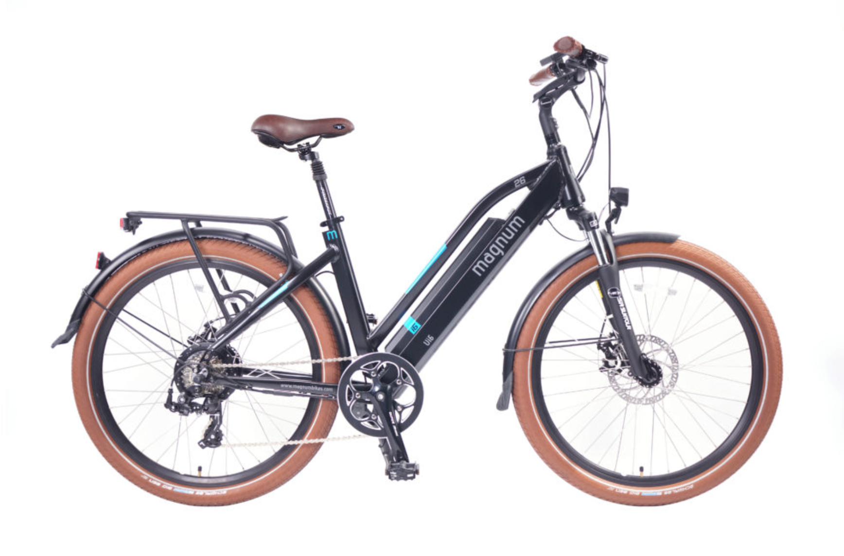 UI6-MW Black E-Bike 48v