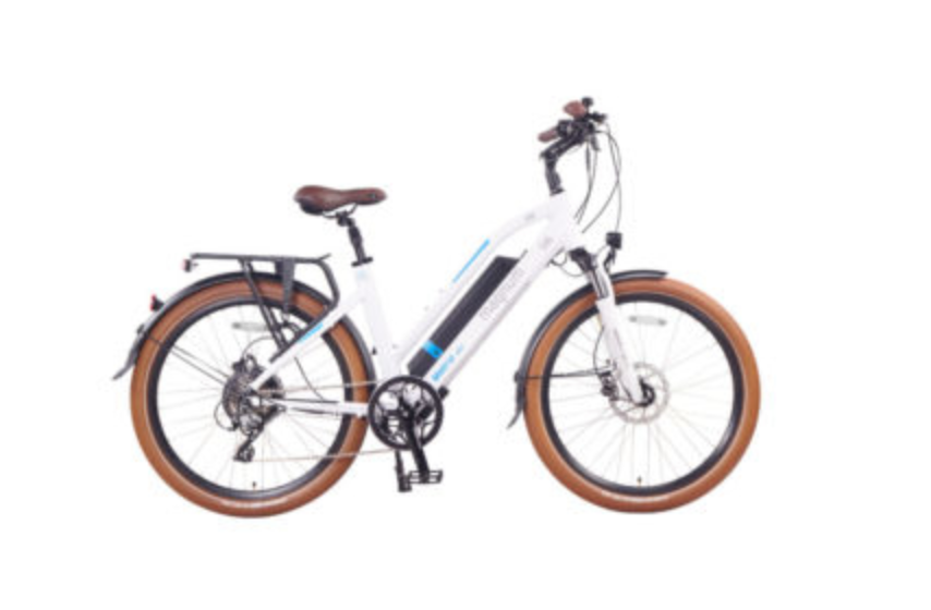 UI6-MW White E-Bike 48v