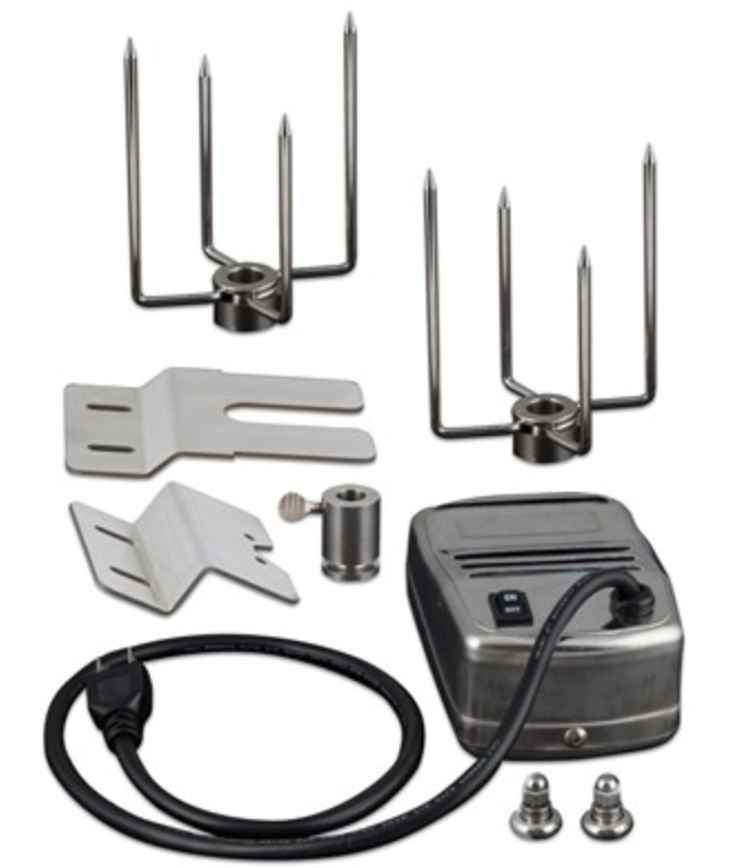 Saber Stainless Steel Rotisserie Kit w/ Ca