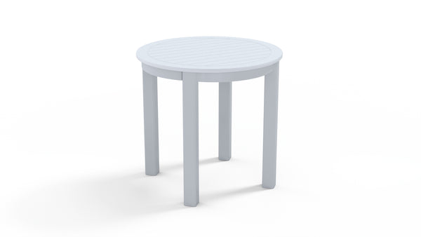 Marine Grade Polymer Top Table, 21″ Round Deluxe End Table