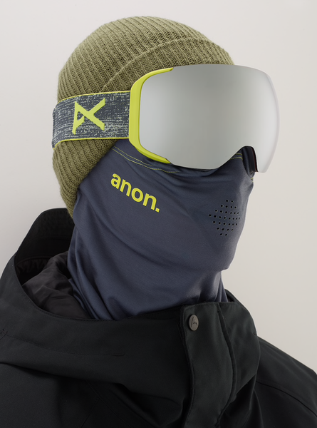 2019 Anon M2  Goggle + Spare Lens + MFI Face Mask - Silver