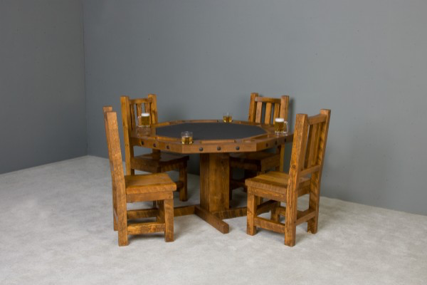 Barnwood Poker Table