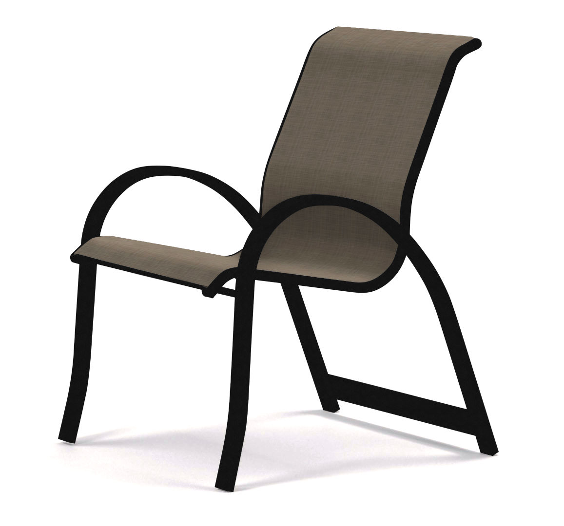 Aruba Sling Stacking Arm Chair