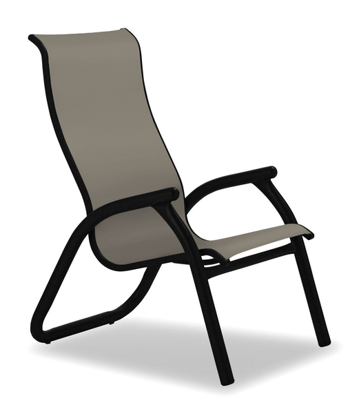 Gardenella Sling, Maxx Chat Height Supreme Stacking Arm Chair