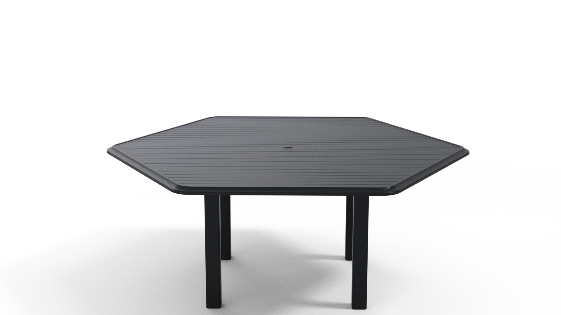 63″ Hexagonal Dining Height Table