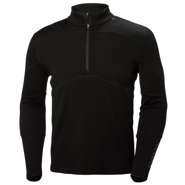 2019 Helly Hansen Lifa Merino 1/2 Zip - Black