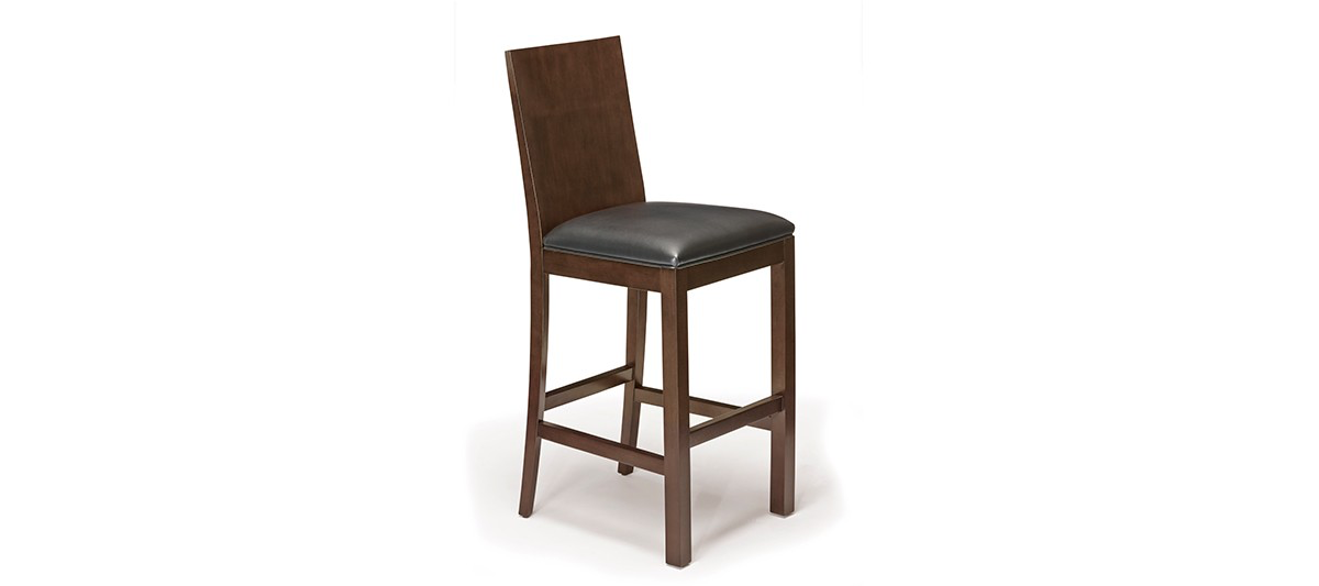 Brunswick Heritage Wood Back Bar Stool - Espresso