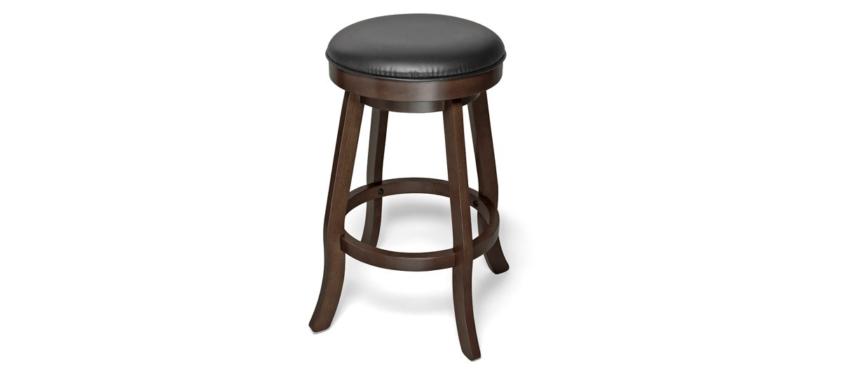 Brunswick Traditional Backless Bar Stool - Espresso