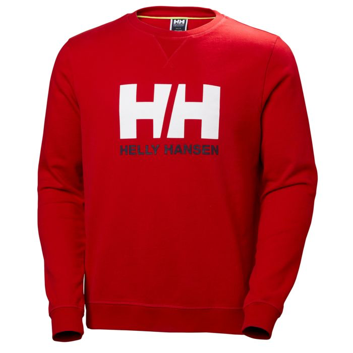 2019 Helly Hansen Logo Crew Sweat - Red