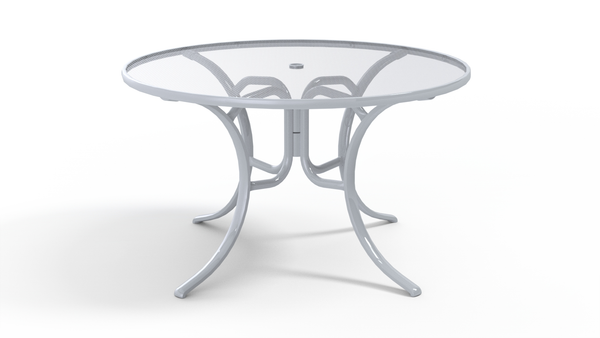 48″ Glass Top Dining Table