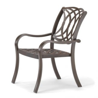 Ocala Cast Aluminum Stacking Arm Chair
