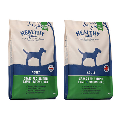 2 X 6KG Grass Fed British Lamb & Brown Rice (Adult)