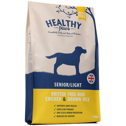 12kg British Free-Run Chicken & Brown Rice (Senior/Light)