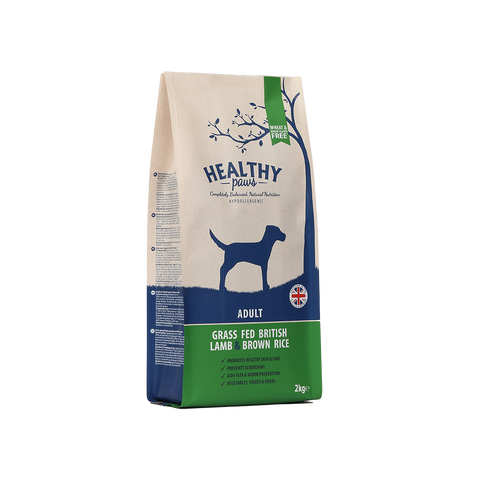 2kg Grass Fed British Lamb & Brown Rice (Adult)