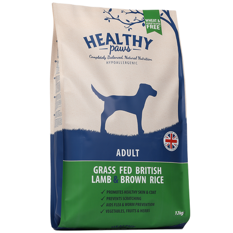 12kg Grass Fed British Lamb & Brown Rice (Adult)