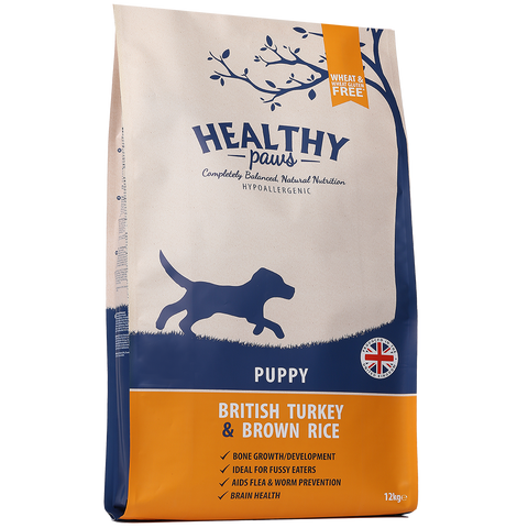 12kg British Turkey & Brown Rice (Puppy)