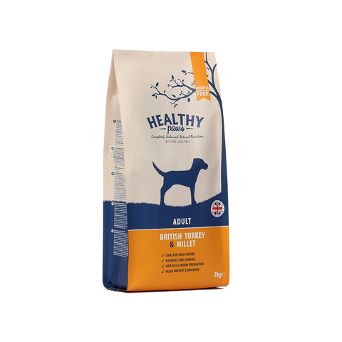 2kg British Turkey & Millet (Adult)