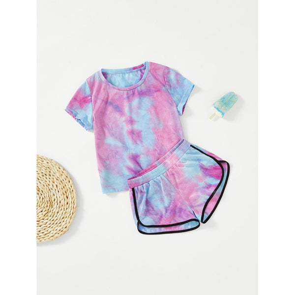 Tie Dye T-shirt & Dolphin Shorts Set TrendSteadler
