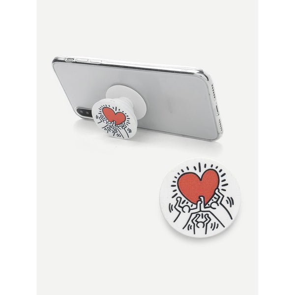 Heart Print Gasbag Phone Holder TrendSteadler