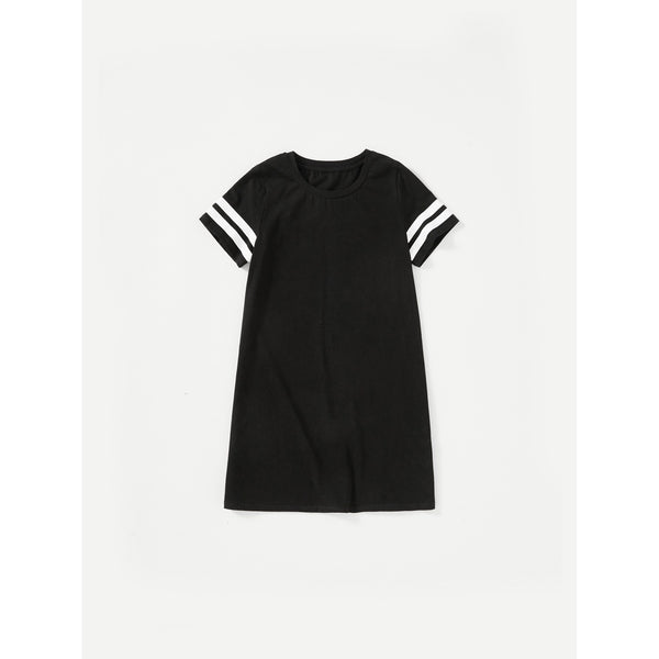 Varsity Striped Sleeve Dress TrendSteadler