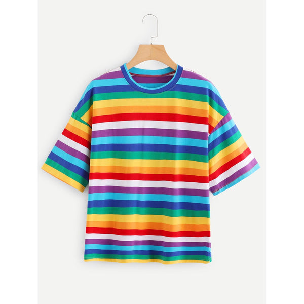 Rainbow Striped Tee TrendSteadler