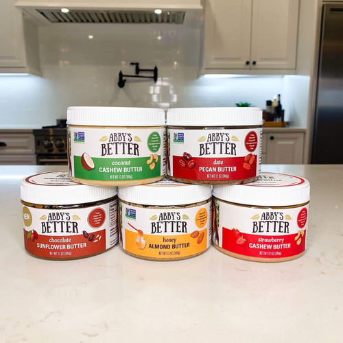 5 Jar Pack Nut Butter Abby's Better