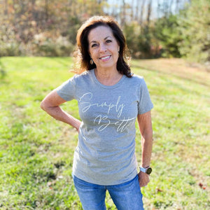 Simply Better Script Women's Tee Merch Abby's Better