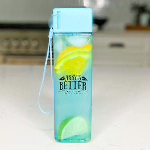 Square Water Bottle Merch Abby's Better