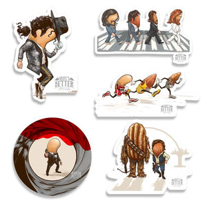 5 Pack - Sticker