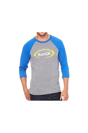 RunGR 3/4 Sleeve Logo Tee - Royal