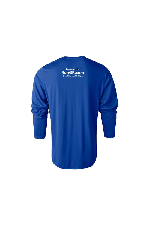 RunGR Men's LS Logo Tee - Royal