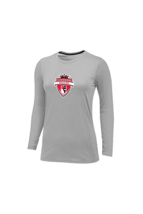Kingdom Women's LS Logo Tee - Grey