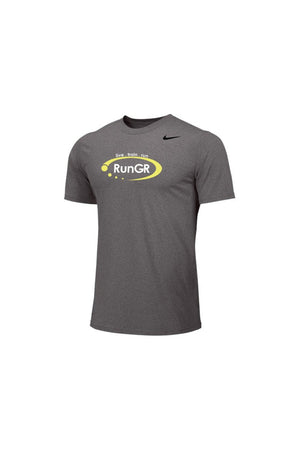 RunGR Men's SS Logo Tee - Grey