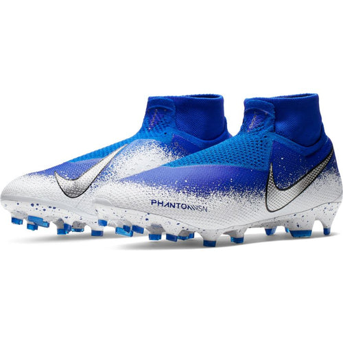 Phantom Vision Elite Dynamic Fit FG Soccer Boot - Racer Blue/White/Chrome