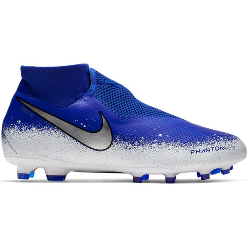 Phantom Vision Pro Dynamic Fit FG Soccer Boot - Racer Blue/White/Chrome