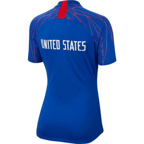 Women's USA Pre Match Top - Bright Blue/Speed Red/White